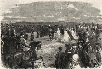 Norfolk volunteer review Mousehold Heath: Lady Suffield prizegiving Rifles, 1863