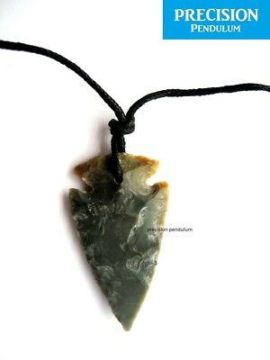 Natural Agate Arrowhead Tribal Pendant Necklace Gemstone Crystal Protection