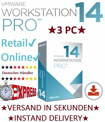 VMware Workstation 14 Pro WINDOWS ★1PC★ VOLLVERSION ★ NEU ★ Rechnung ★