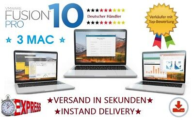 VMware Fusion 10 Pro MAC |1MAC| VOLLVERSION | NEU | Rechnung !