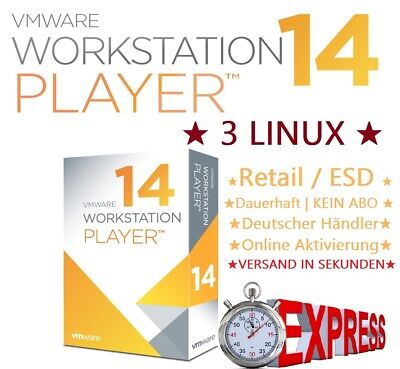 VMware Workstation 14 Pro LINUX |1PC| VOLLVERSION | NEU | Rechnung !