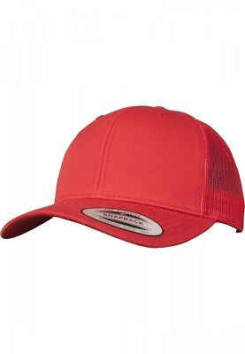Flexfit / Yupoong Retro Trucker Cap in rot