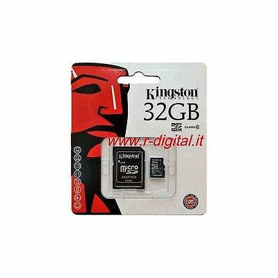 KINGSTON MICRO SD 32 GB 32 GB HC CLASS 4 CARD MEMORY with adapter BLISTER