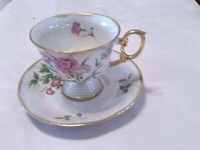 January Carnation Cup And Saucer