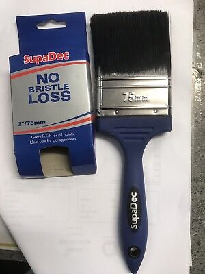 SupaDec DIY Decorating Painting Paint Brush No Bristle Loss 3""