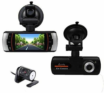 ACCFLY A1 2.7 inch 120 Degree Night Vision Dual Lens Dash Cam front and rear Car