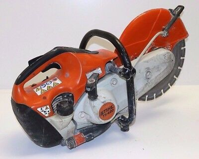 "STIHL TS 420 Concrete Saw with 14"" Diamond Cement Cutting Blade"