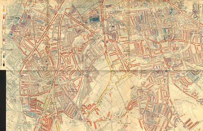 SOUTHWARK Booth poverty map Dulwich Herne Hill Stockwell Peckham Brixton 1902