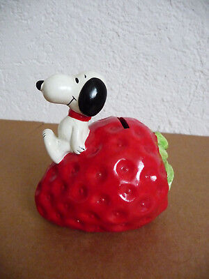 RAR Peanuts Dog Hund Snoopy 1958 / 1966 Erdbeere Strawberry selten Spardose Bank