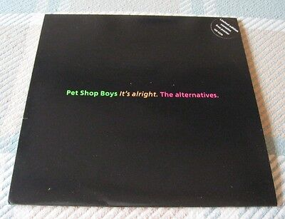 """The Pet Shop Boys - It's Alright The Alternatives - 10"""" Vinyl Single With Poster"""