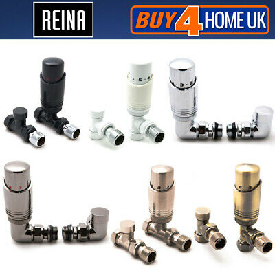 Reina Modal TRV Thermostatic Radiator Valves 15mm and LockShield - RRP £38.50