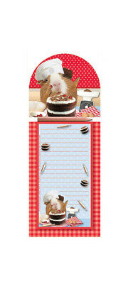 Adorable Guinea Pig Themed Magnetic Memo Note Pad incl Pencil Perfect Gift