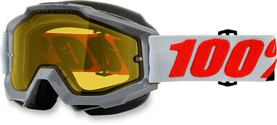 100% Snow Snowmobile ACCURI Goggles (Solberg w/Yellow Lens)