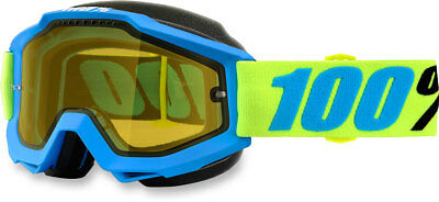 100% Snow Snowmobile ACCURI Goggles (Belize w/Yellow Lens)