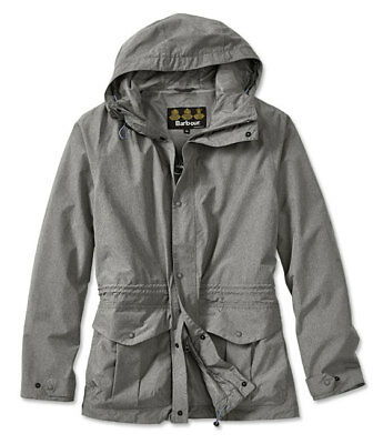 Barbour Men's Mull Waterproof Rain Jacket Grey Marled NWT MSRP $399