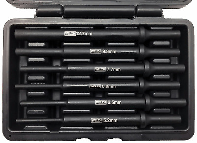 6pc VIBRATION PARALLEL AIR PIN PUNCH SET for Air Hammers WW 4080