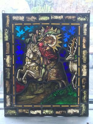 Incredible Antique Gothic Victorian Stained Glass Window  -Jg6