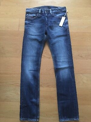 New With Tags Boy's DIESEL THANAZ -J  Distressed Jeans In Blue Age 16