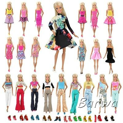 Barwa 15 items For Barbie Random Style 5 Sets Fashion Casual Wear Clothes/out...