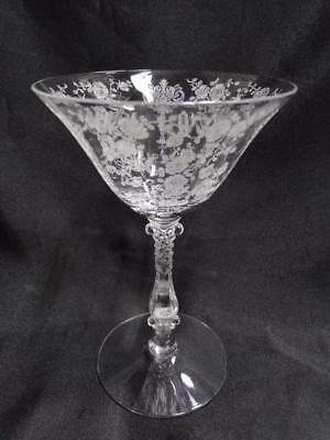 """Cambridge Rose Point Clear Stem 3121: Champagne / Tall Sherbet (s) 6 3/8""""-6 1/2"""""""