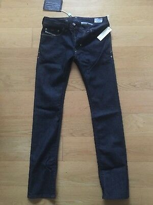 New Boy's DIESEL THANAZ Stretched Slim Skinny Jeans 15 year old in  Dark Blue