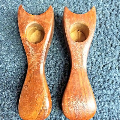 "Lot of 2 Vintage/new Dark Wood Unused Tobacco Pipe - Unmarked 4 1/2"" Sold Wood"