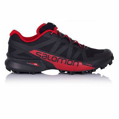 Salomon Speedcross Pro 2 Mens Black Red Trail Running Sports Shoes Trainers