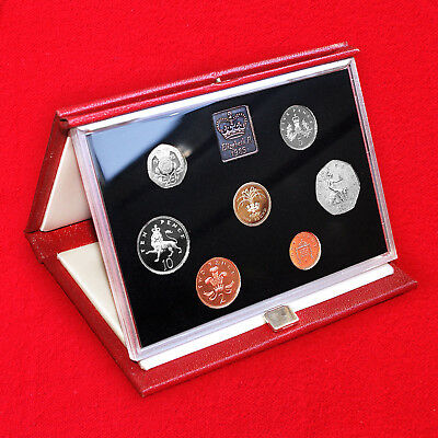 1985 United Kingdom Proof Coin Collection (7 Coin Set) + Certificate + Box