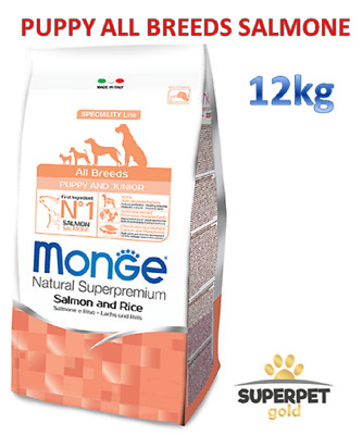 Monge Puppy All Breeds Salmone Crocchette Per Cani Superpremium 12Kg