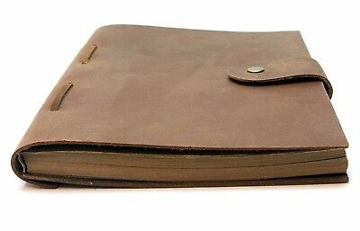 Vintage Handmade Leather Diary Notebook Brown Cover Bound Journal Men Women Gift