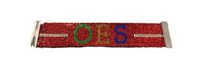 Order of the Eastern Star OES Bling Bracelet- Red-New!