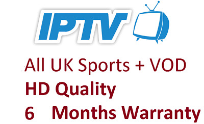 6 Months UK IPTV SUBSCRPTION HD (1500+ Ch + VOD) MAG, Android, SmartTV