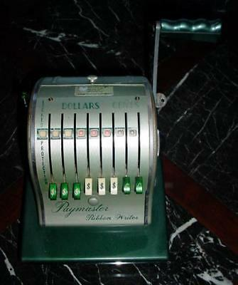Vintage Paymaster Ribbon Writer Series 8000 Check Writer