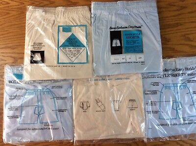 Lot Of 5 Vintage Underwear Shorts Boxer by SEARS Stride Right Made in USA SZ 38