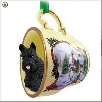 Victorian Trading Co Scottish Terrier Tea Cup Dog Christmas Ornaments
