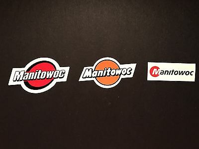 Lot Of 3 Manitowoc Crane Hardhat stickers Union Operators Iron Workers