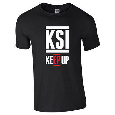 KSI KEEP UP Tshirt Kids Adults Sidemen YouTube Army FIFA Gaming Beast Smashed
