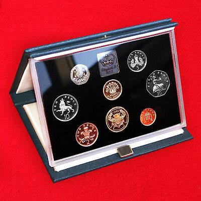 1986 United Kingdom Proof Coin Collection (7 Coin Set) + Certificate + Box