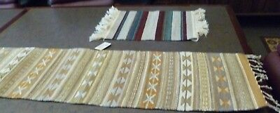 Hand Woven 100% Wool Rugs (2), New Mexico