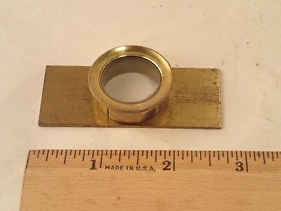 Antique 1800's Brass Microscope Slide Live Box Specimen Container