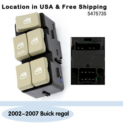 Left Driver Side Power Window Master Control Switch For 02-07 Buick regal