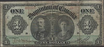 Dominion of Canada  $1  1.3.1911   P 27   Circulated Banknote  Scarce