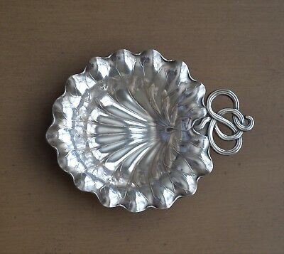 Gorham  Sterling Silver Lily Pad Art Nouveau Nut Dish Place Card Holder   1931