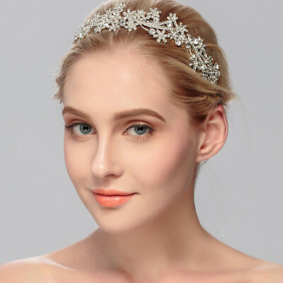Bridal Crystal Party Prom Tiara Crown Pageant Hair Wedding Accessories Headband