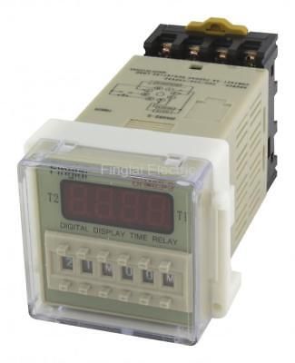 DH48S-S repeat cycle SPDT time delay relay / timer with socket 220V 110V 24V 12V