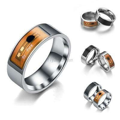 Stainless Steel NFC Smart Ring Technology For Windows IOS Android Mobile Phone