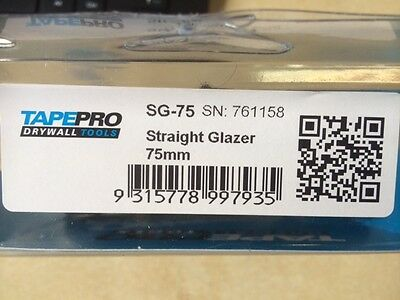 tapepro straight glazer 75mm , SG-75MM , MADE IN AUSTRALIA!