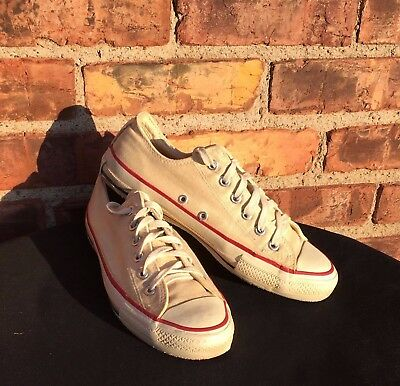 VTG Converse All Star Low Top Shoes Sneakers Off White Size 7 USA 1970s-80s