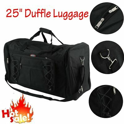 "NEW Duffle Luggage Travel Gear Bag Everest Extra Large Black One Size 25"" HM"