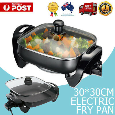 AU 30CM Electric Banquet Frypan 30 x 30 Non-Stick Adjustable temperature control